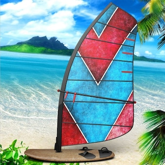 Diseño de presentación de tabla de windsurf