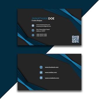 Diseño profesional de tarjeta de visita verde azul