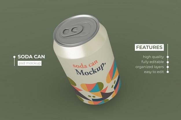 Diseño realista de maquetas de latas de refresco