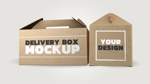 Diseño de renderizado 3d de maqueta de caja de papel