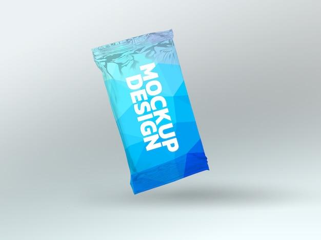 Diseño de renderizado 3d de maqueta de paquete