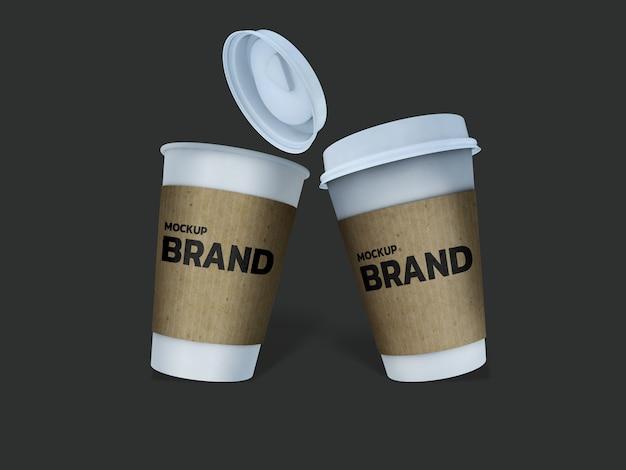 Diseño de renderizado 3d de maqueta de taza de café