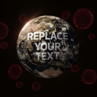 Diseño de renderizado 3d de world corona virus