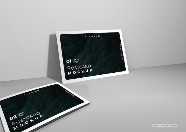 Diseño de renderizado de diseño de maqueta de postal