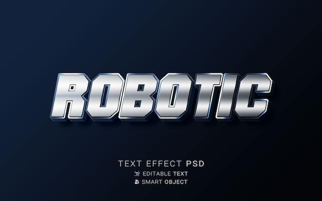 Diseño de robot con efecto de texto