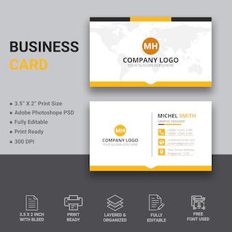 Diseño simple de tarjeta de visita