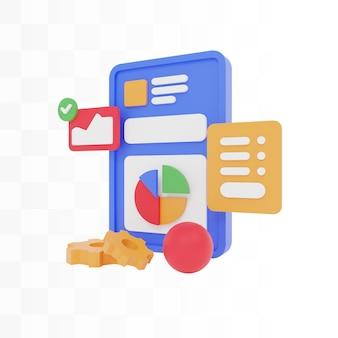 Diseño de sitio web de concepto de ilustración