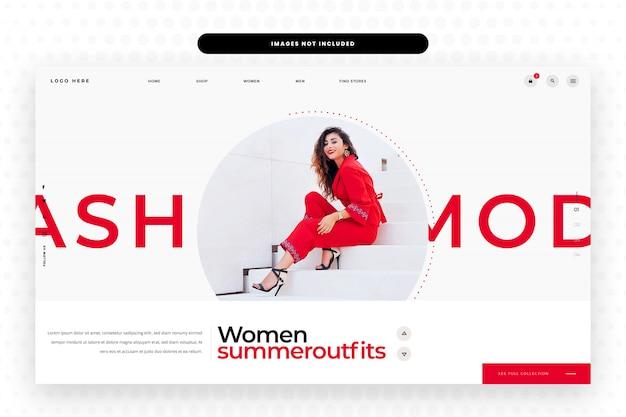 Diseño de sitios web de moda de verano para mujeres