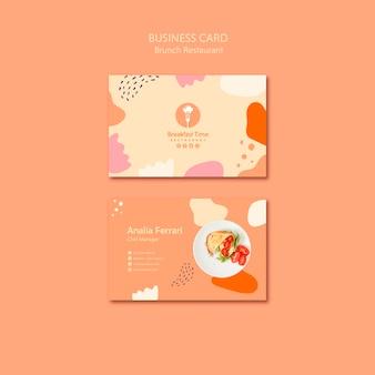 Diseño de tarjeta de presentación para chef manager