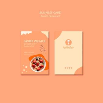 Diseño de tarjeta de presentación para chef senior