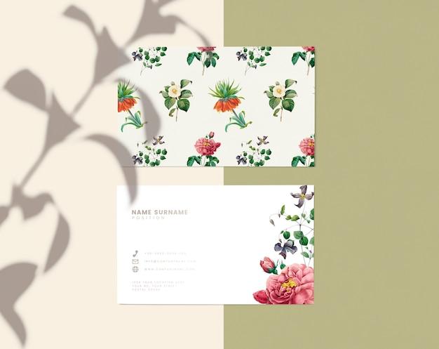 Diseño de tarjeta de presentación floral