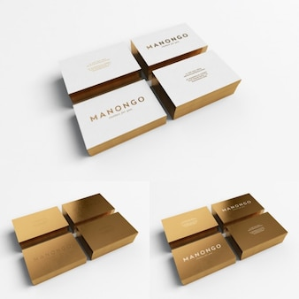Diseño de tarjeta de visita dorada