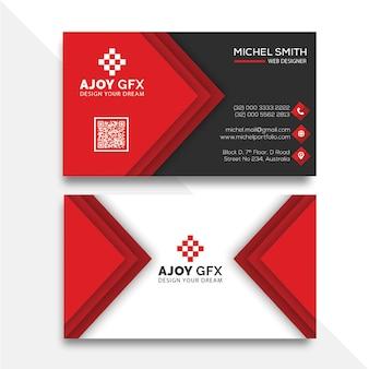 Diseño de tarjeta de visita roja
