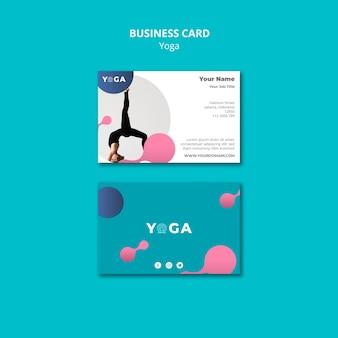 Diseño de tarjeta de visita yoga