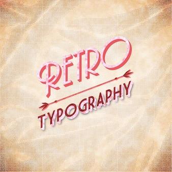 Diseño de tipografía retro