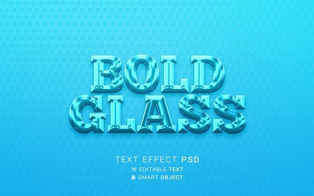 Diseño de vidrio con efecto de texto