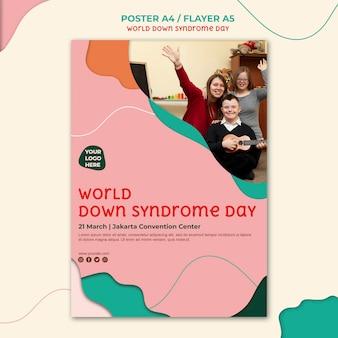Diseño de volante del día del síndrome de down