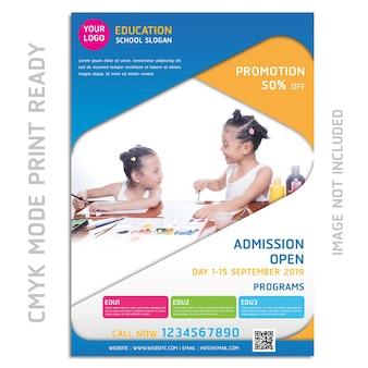 Diseño de volante de folleto de educación