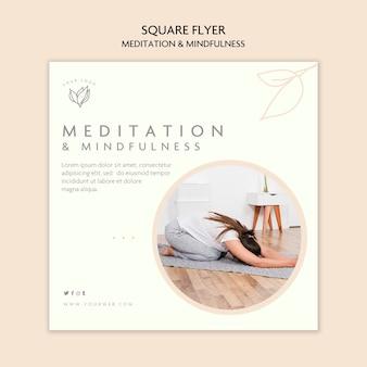 Diseño de volante de meditación y atención plena.
