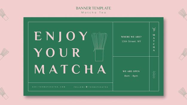 Disfruta tu plantilla de banner matcha