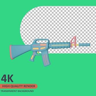Disparar 3d veterano icono ilustración render de alta calidad