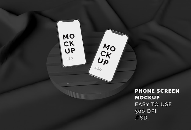 Display del telefono mockup