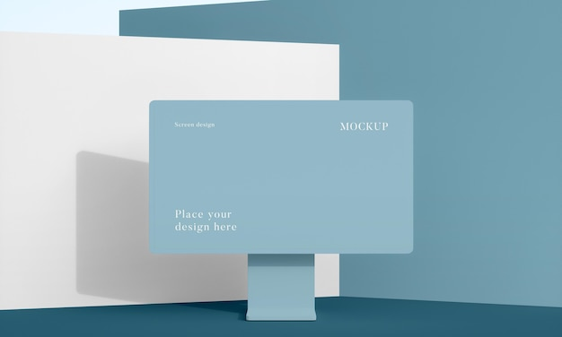Disposición de escritorio de maqueta moderna