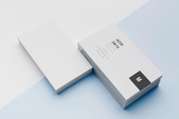 Disposición de la tarjeta de visita de la maqueta