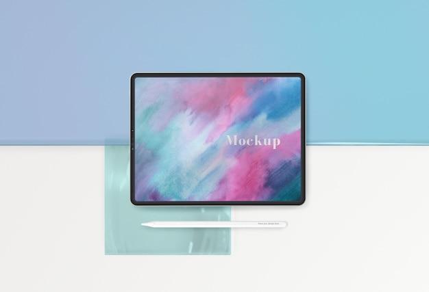 Dispositivo pad tablet con mock-up