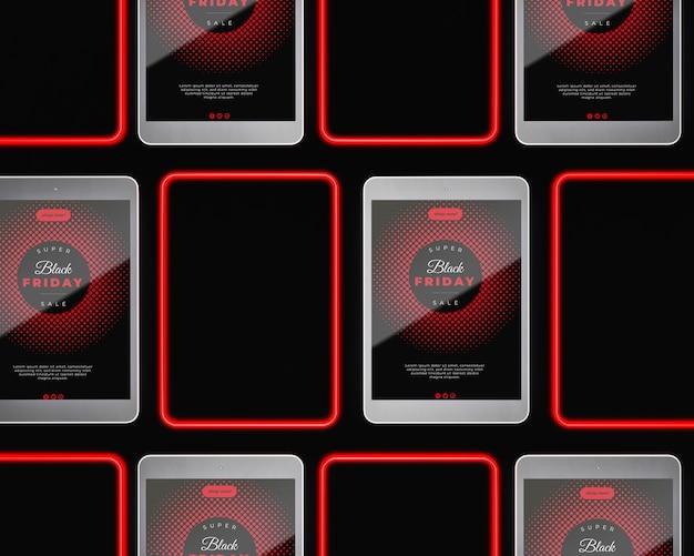 Dispositivos de viernes negro con oferta de venta especial