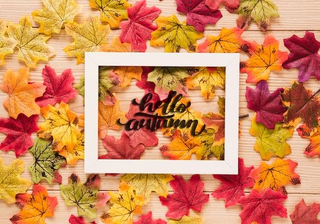 Disposizione carina di foglie secche