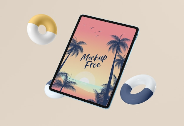 Disposizione dei tablet mock-up
