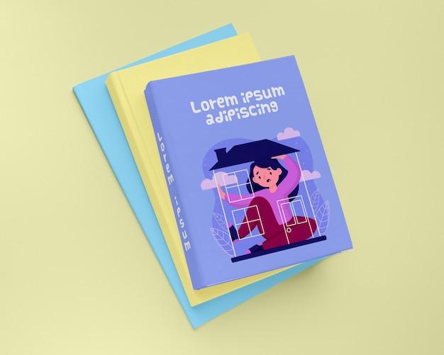 Disposizione del modello di copertina del libro