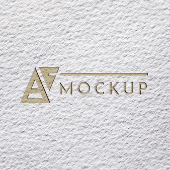 Disposizione piatta di mock-up di carta ruvida per affari
