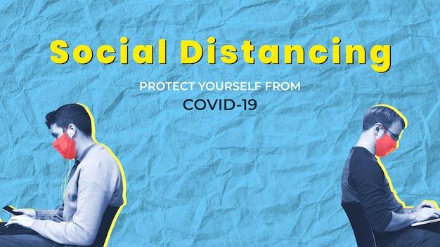 Distanciamiento social para protegerse a sí mismo y a los demás del covid-19