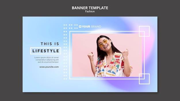 Dit is sjabloon voor spandoek van lifestyle-mode