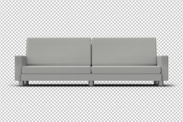 Divano grigio isolato