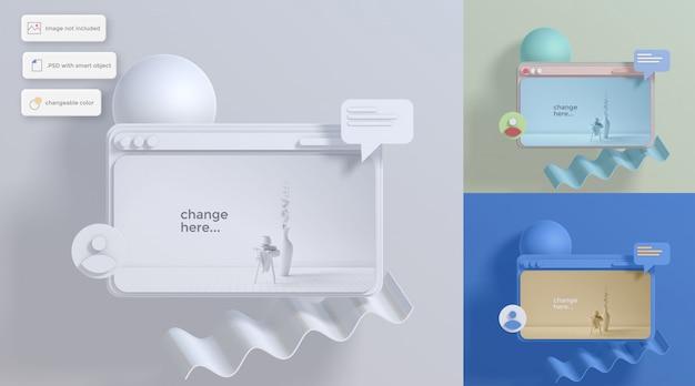 Diverse dashboard mockup illustratie