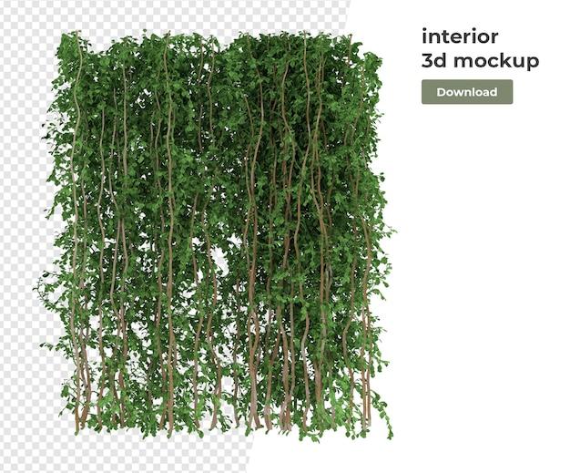 Diverse plant decoratie 3d-rendering geïsoleerd