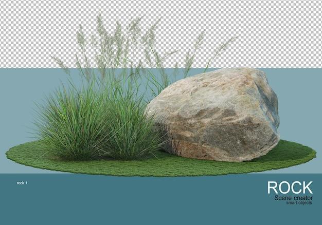 Diverse rotsen en grassen