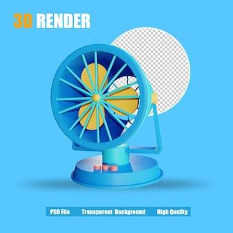 Diversión eléctrica del icono de render 3d