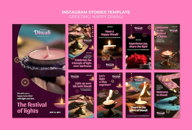 Diwali-viering instagramverhalen