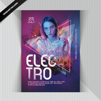 Dj electro party flyer