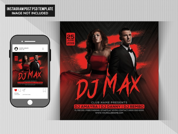 Dj max party flyer