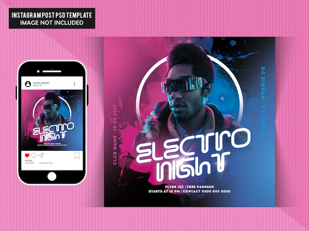 Dj party social media post template