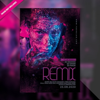 Dj remix party flyer