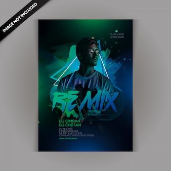 Dj remix party-flyer