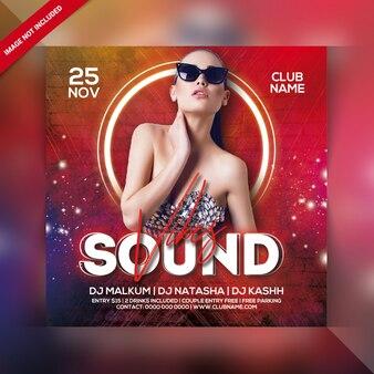 Dj sound party flyer