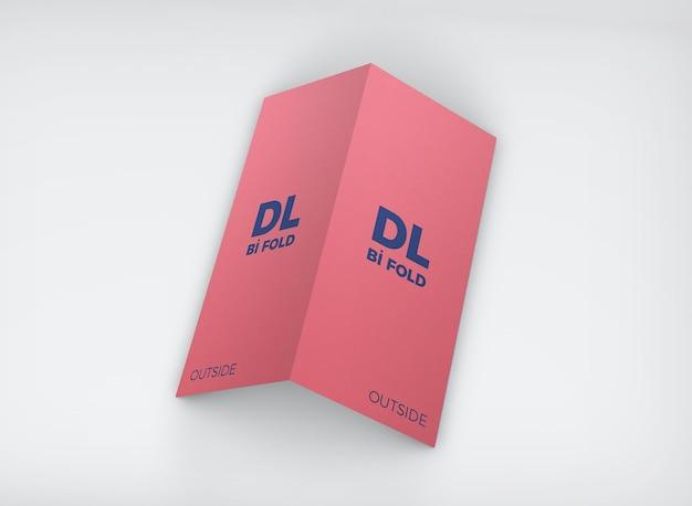 Dl bi-fold mockup design geïsoleerd