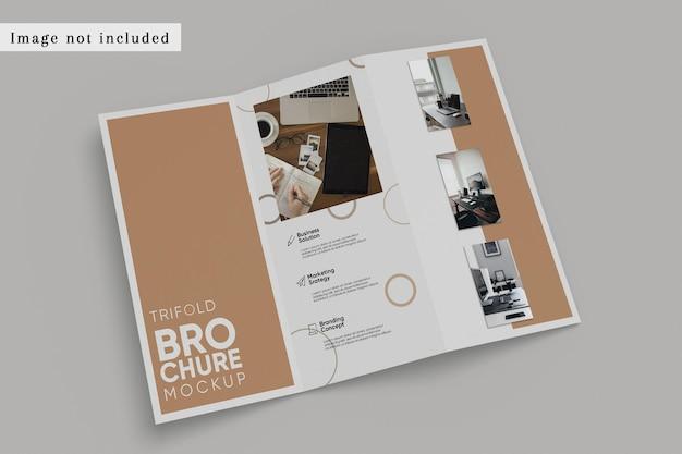 Dl bifold driebladige brochure mockup